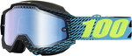 100% Snow Snowmobile ACCURI Goggles (R-CORE w/Anti-Fog Mirror Blue Lens) Adult
