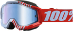 100% Snow Snowmobile ACCURI Goggles (CUPCOY w/Anti-Fog Mirror Blue Lens) Adult