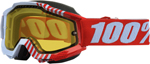 100% Snow Snowmobile ACCURI Goggles (CUPCOY w/Anti-Fog Yellow Lens) Adult
