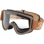 BILTWELL INC Moto 2.0 Motorcycle Helmet Goggles (Script Chocolate/Sand)