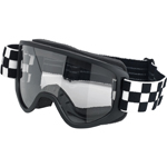 BILTWELL INC Moto 2.0 Motorcycle Helmet Goggles (Checkers Black/White)