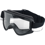 BILTWELL INC Moto 2.0 Motorcycle Helmet Goggles (Bolts Black/White)