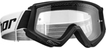 Thor MX Motocross YOUTH Combat Goggles (Black/White)