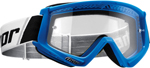 Thor MX Motocross YOUTH Combat Goggles (Blue/White)