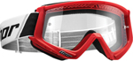 Thor MX Motocross YOUTH Combat Goggles (Red/Black/White)