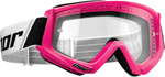 Thor MX Motocross YOUTH Combat Goggles (Flo Pink)