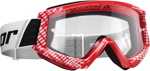 Thor MX Motocross YOUTH Combat Goggles (Red/White)