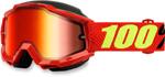100% Snow Snowmobile ACCURI Goggles (Saarinen w/Mirror Red Lens)