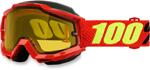 100% Snow Snowmobile ACCURI Goggles (Saarinen w/Yellow Lens)