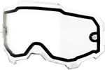 100% MX Motocross Dual Pane Lens for ARMEGA Goggles (Clear)