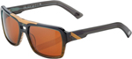 100% MX Motocross BURGETT Sunglasses (Carbon Fade Frame, Dark Bronze Tint Lens)
