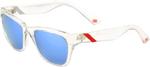 100% MX Motocross ATSUTA Sunglasses (Ice Pick Frame, Blue Mirror Tint Lens)