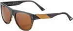 100% MX Motocross HIGGINS Sunglasses (Carbon Fade Frame, Dark Bronze Tint Lens)