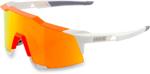 100% Eyewear SPEEDCRAFT Performance Sunglasses (White/Neon Orange  w/HiPER Red Multilayer Mirror Lens)