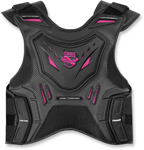 ICON Ladies Field Armor Stryker Motorcycle Vest (Black/Pink)