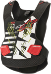 Alpinestars MX Motocross Sequence Soft-Shell Chest/Back Protector Roost Guard (Black/White/Red)