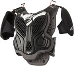 Alpinestars MX Motocross A-5s Youth Body Armour Roost Guard (Black/Gray)
