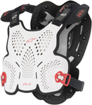 Alpinestars Motocross Offroad A-1 CE Roost Guard/Chest Protector (White/Black/Red)