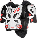 Alpinestars A-10 Full Chest Protector/Roost Guard (Black/Red/White)