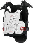 Alpinestars Motocross Offroad A-4 CE Roost Guard/Chest Protector (White/Black/Red)