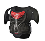 Alpinestars MX/Motocross A-5 S Youth Body Armour Chest/Back Protector (Black/Red)
