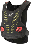 Alpinestars MX Motocross Sequence Soft-Shell Chest Protector Roost Guard (Black/Red)