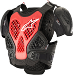 Alpinestars MX Motocross Bionic Chest Protector Roost Guard (Black/Red)