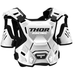 Thor MX Motocross Youth Guardian Roost Deflector/Back Protector (White)