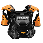 Thor MX Motocross Youth Guardian Roost Deflector/Back Protector (Orange/Black)