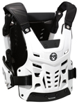 Moose Racing MX Off-Road SYNAPSE LITE PRO CE Certified Roost Guard (Black/White)