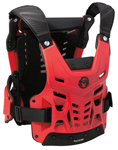 Moose Racing MX Off-Road SYNAPSE LITE PRO CE Certified Roost Guard (Black/Red)