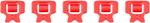 ALPINESTARS Extention Stops for Fluid Pro & Fluid Tech Carbon Knee Brace (Red)