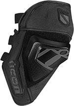 ICON CLOVERLEAF Street Motorcycle Knee Slider/Guard (Black)