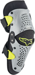 Alpinestars MX Motocross SX-1 Youth Knee Protectors (Silver/Yellow Fluo)