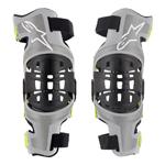 Alpinestars MX Motocross Bionic-7 Knee Brace Set (Silver/Yellow Fluo)