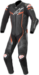 Alpinestars GP PRO v2 Leather Race Suit Tech-Air Compatible (Black/Camo/Fluo Red)