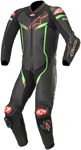 Alpinestars GP PRO v2 Leather Race Suit Tech-Air Compatible (Black/Bright Green/Red)