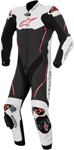 ALPINESTARS Atem 1PC Leather Road/Track Motorcycle Suit (Black/White/Red)