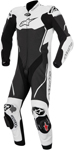 ALPINESTARS Atem 1PC Leather Road/Track Motorcycle Suit (Black/White)