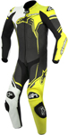 ALPINESTARS 2017 GP PLUS 1-Piece Leather Road/Track Riding Suit (Black/White/Yellow)
