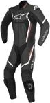 Alpinestars Men's MOTEGI V2 1-Piece Leather Road/Track Riding Suit (Black/Flo Red/White)