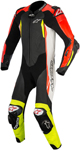 Alpinestars GP TECH v2 Leather Motorcycle Riding Suit Tech-Air Compatible (Black/White/Fluo Red/Fluo Yellow)