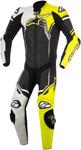 Alpinestars 2018 GP PLUS 1-Piece Leather Race/Track Riding Suit (Black/White/Flo Yellow)