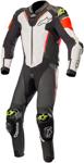 Alpinestars ATEM v3 1-Piece Leather Motorcycle Riding Suit (Black/White/Flo Red/Flo Yellow)