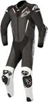 Alpinestars ATEM v3 1-Piece Leather Motorcycle Riding Suit (Black/White)