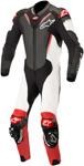 Alpinestars ATEM v3 1-Piece Leather Motorcycle Riding Suit (Black/White/Red)