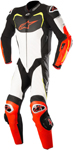 Alpinestars GP PRO Leather Motorcycle Riding Suit Tech-Air Compatible (Black/White/Flo Red/Flo Yellow)