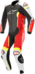 Alpinestars MISSILE Leather Motorcycle Riding Suit Tech-Air Compatible (Black/White/Flo Red/Flo Yellow)