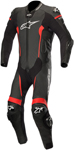 Alpinestars MISSILE Leather Motorcycle Riding Suit Tech-Air Compatible (Black/Red)