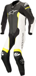 Alpinestars MISSILE Leather Motorcycle Riding Suit Tech-Air Compatible (Black/White/Flo Yellow)